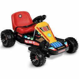 Electric Powered Go Kart Kids Ride On Car 4 Wheel Racer Bugg