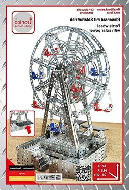 Ferris Wheel with Solar Power Metal Construction Kit