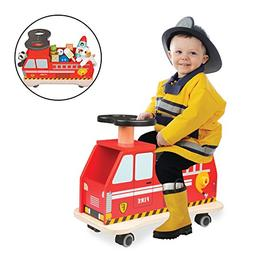 Fire Truck Ride On by Svan - 100% Wood - Removable Seat Turn