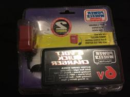 FISHER PRICE POWER WHEELS 6 VOLT QUICK BATTERY CHARGER QUICK