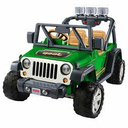 Fisher Price Power Wheels Deluxe Jeep Wrangler 12 Volt Kids