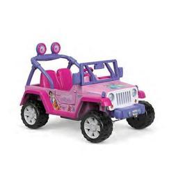 Fisher-Price Power Wheels Disney Princess Jeep Wrangler in P