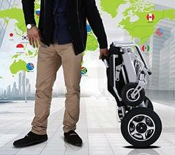 Fold & Travel Motorized Electric Power Wheelchair Scooter On