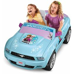 Disney Frozen Ford Mustang Battery-Powered Ride-On, Pink/Blu