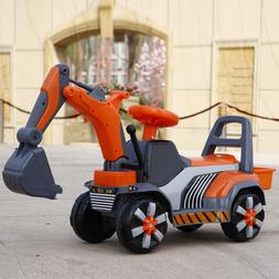 Free Shipping New Children Can Sit Ride on Toy Digger Large