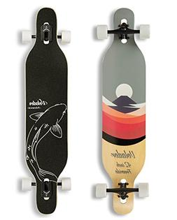 Volador 42inch Freeride Longboard  Drop Through Camber Deck