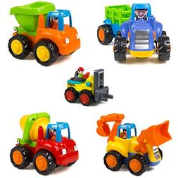 Friction Powered Car Toys Tractor Bulldozer Mixer Truck Dump
