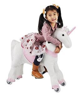 Girl's Gift Mechanical Ride on Unicorn Simulated Horse Ridin