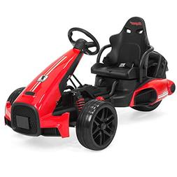 Best Choice Products 12V Kids Go-Kart Racer Ride-On Car w/ P