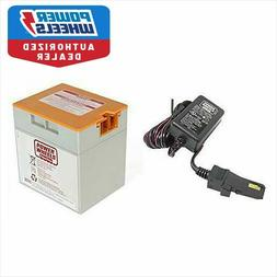 Power Wheels Gray-Orange Top 12 volt Battery & Charger  0080