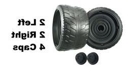 Power Wheels N1475 Barbie Cadillac Escalade EXT 4 Tires 2 Le