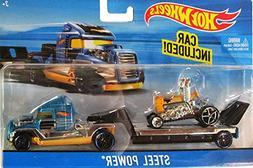 Hot Wheels Hauling Rig Car - Truck Set - Steel Power