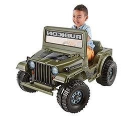 Power Wheels Jeep Rubicon Wrangler 6V Ride-On, Features Pret