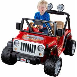 Power Wheels Jeep Wrangler 12-Volt Battery-Powered Ride-On,