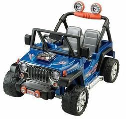Power Wheels Jeep Wrangler Hot Blue Kids Toy Ride On Car Tru