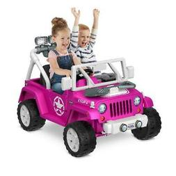 Jeep Wrangler Willys 12v Pink Ride On Toy Max Speed 5mph Sou