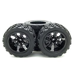 JIUWU 1:10 Rc Monster Truck Car Wheel Type Tires with 7 Spok