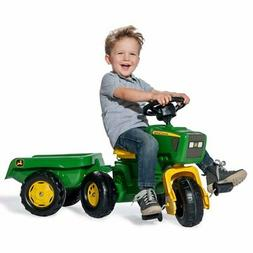 John Deere 3 Wheel Riding Pedal Tractor Trike with Removable