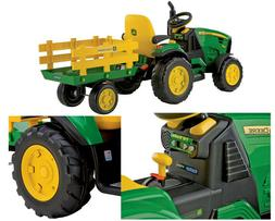 Peg Perego John Deere Ground Force 12 Volt Tractor Ride-On 2