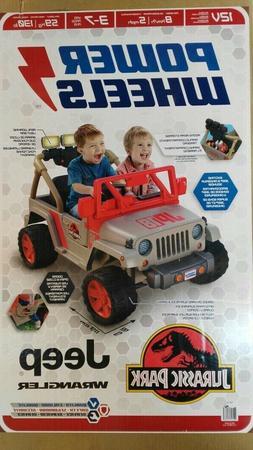 Power Wheels Jurassic Park Jeep Wrangler 4 Wheel Ride On Kid