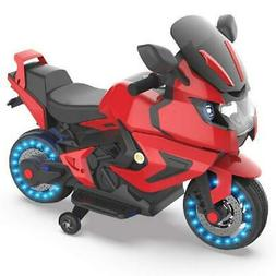 Kids Electric Power Motorcycle 6V Ride On Bike Red