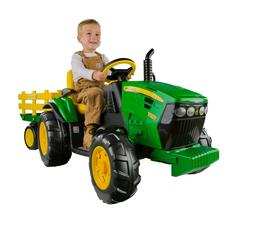 Peg Perego kids John Deere Ground Force 12-volt Tractor Ride