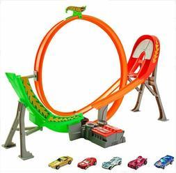 Kids Hot Wheels Power Shift Raceway Loop Jump Track 5 Race C