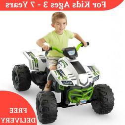 Kids Power Wheels Racing Battery Powered Ride On ATV Car 4-W