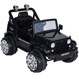 Costzon Kids Ride On Jeep Truck Car 12V Remote Control Vehic