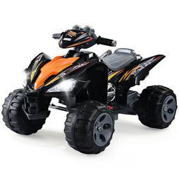 Kids Ride On 4-Wheel Electric Toy Car ATV Quad W/Led Lights