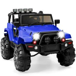 Kids Ride On Jeep Wrangler Spring Suspension 3 Speeds 12V Ba
