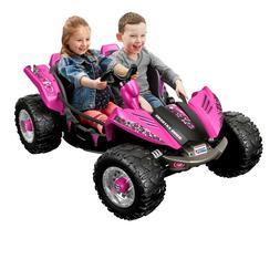 Power Wheels Dune Racer Pink Battery Electric Vehicle Car Qu