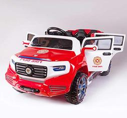 Fire Truck Ride On Toy Power Wheels 12 Volt Battery Powered