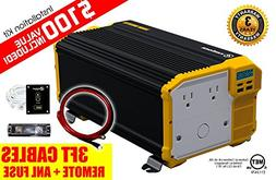 KRIGER 3000W 12V Power Inverter Dual 110V AC outlets and Dua