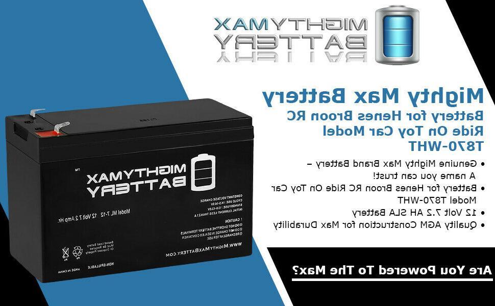 12V Battery for Ride Car Volt Battery Power Wheels Hr.