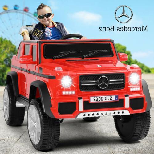 12V Electric Mercedes Benz Kids Ride On Car Red Wheels Remot