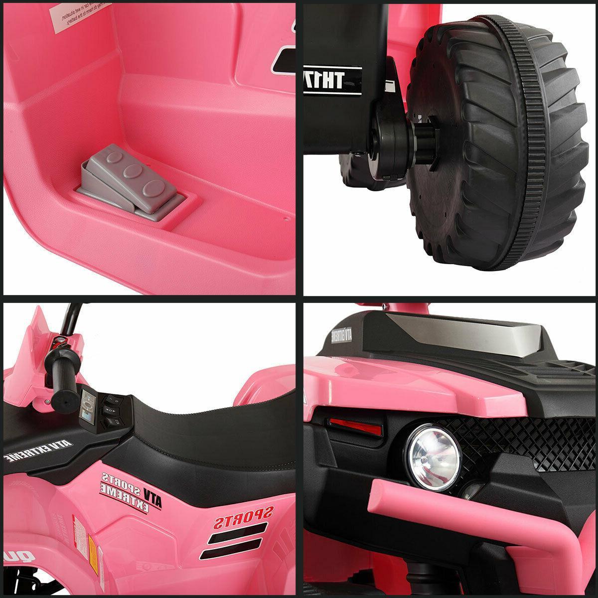 12V Kid Ride On ATV 4 Wheels Powered Car Ride On Toy W/ Music