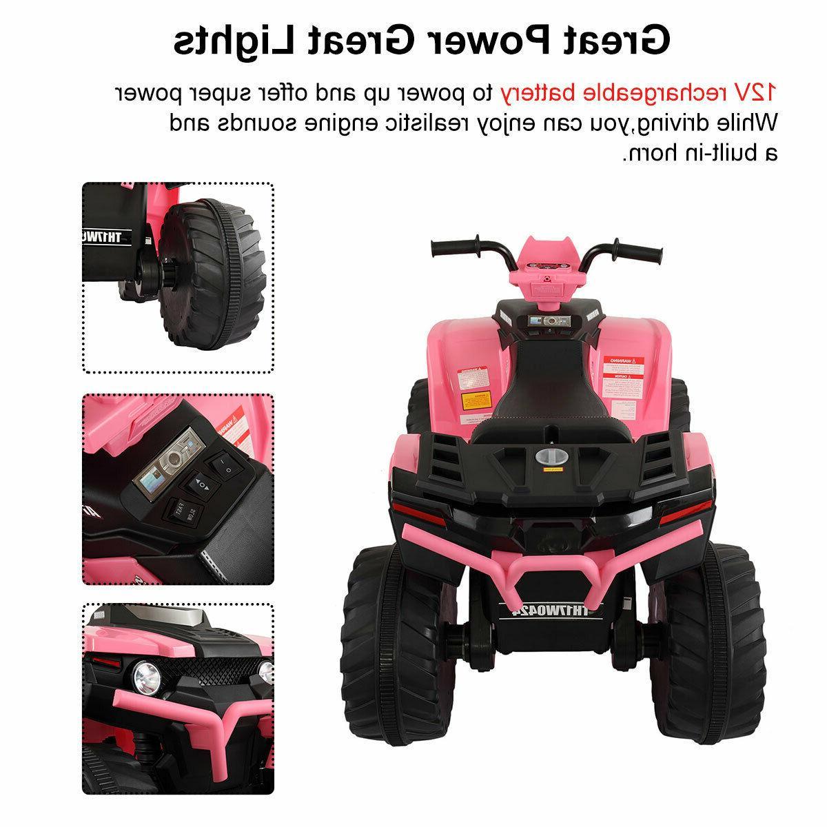 12V Kid Ride ATV Electric Powered Car Toy W/