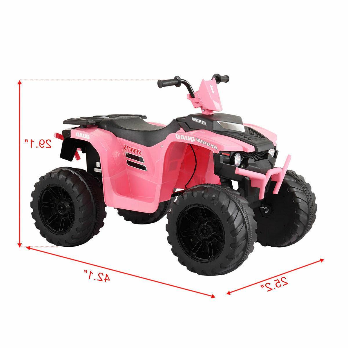 12V ATV Wheels Powered Ride On Toy W/ Music