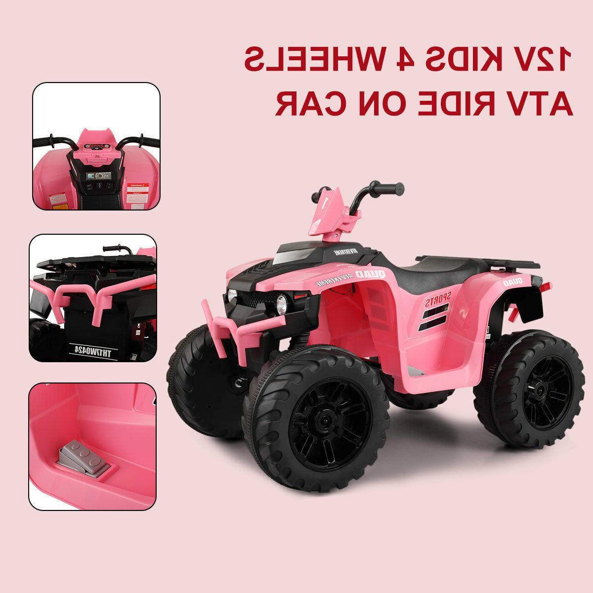 12V Ride ATV Wheels Powered Car Toy W/ Music
