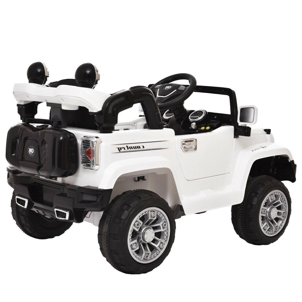 12V On Car Battery Power Jeep W/ White