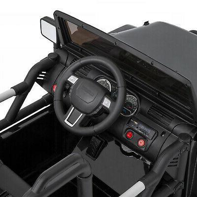 12V Ride Jeep Car W/ Remote Control, 3 Spring
