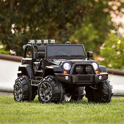 12V Kids Jeep Car Remote Speeds, Spring Suspension