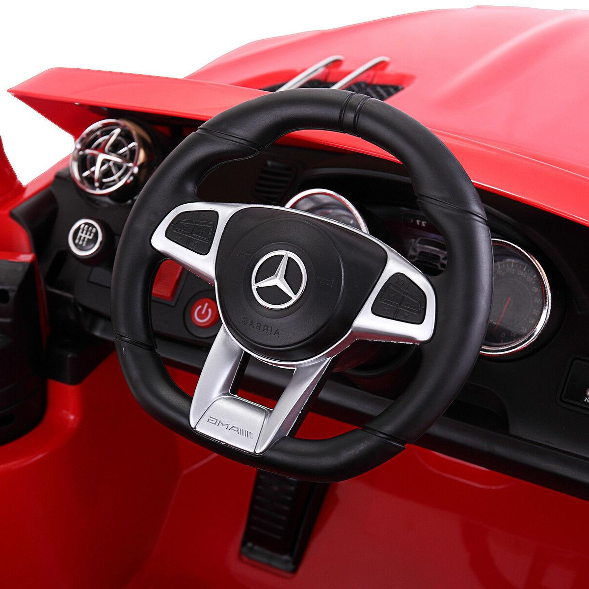 12V Ride Mercedes Benz Remote MP3 RC Red