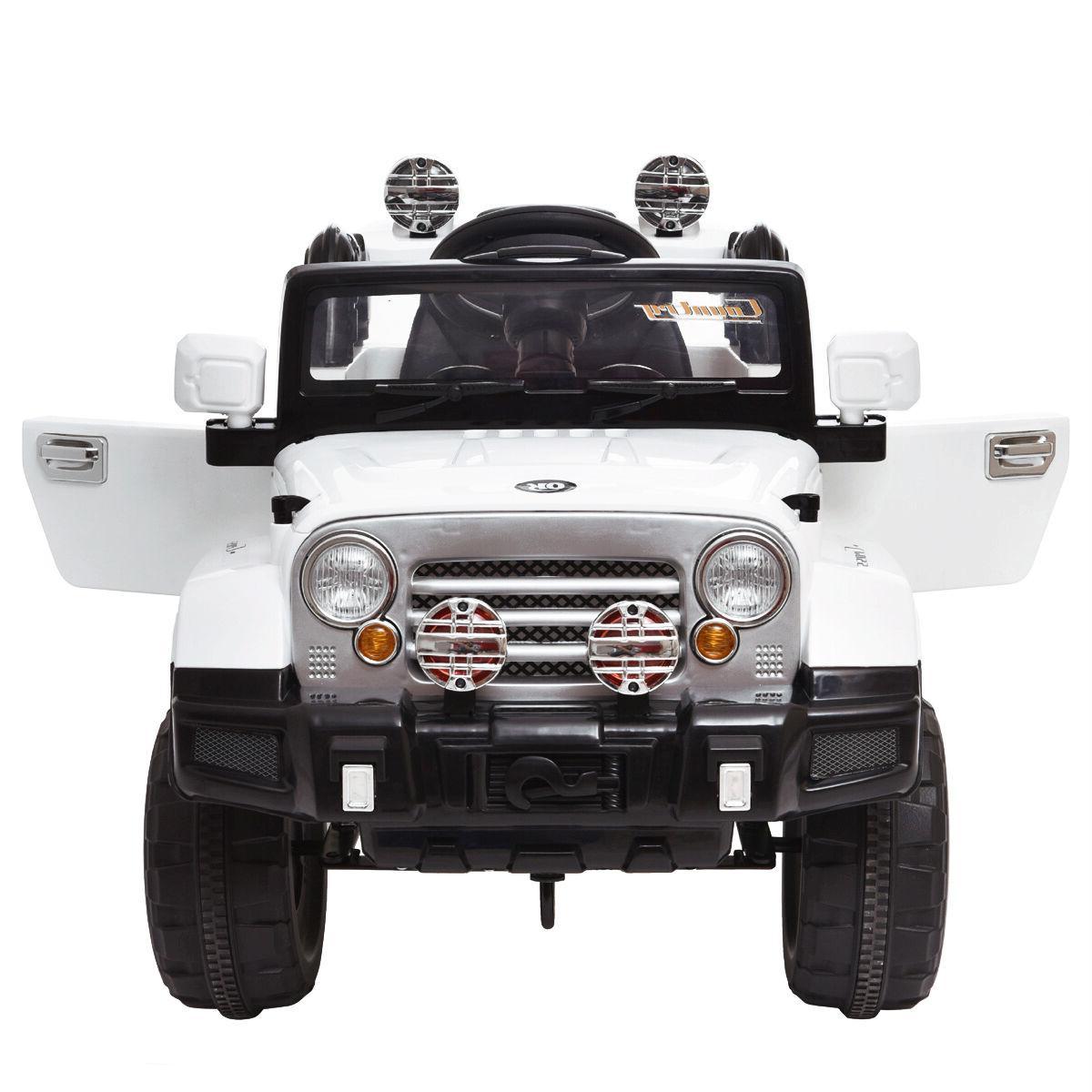 12V MP3 Car Remote Kids Ride W/ White