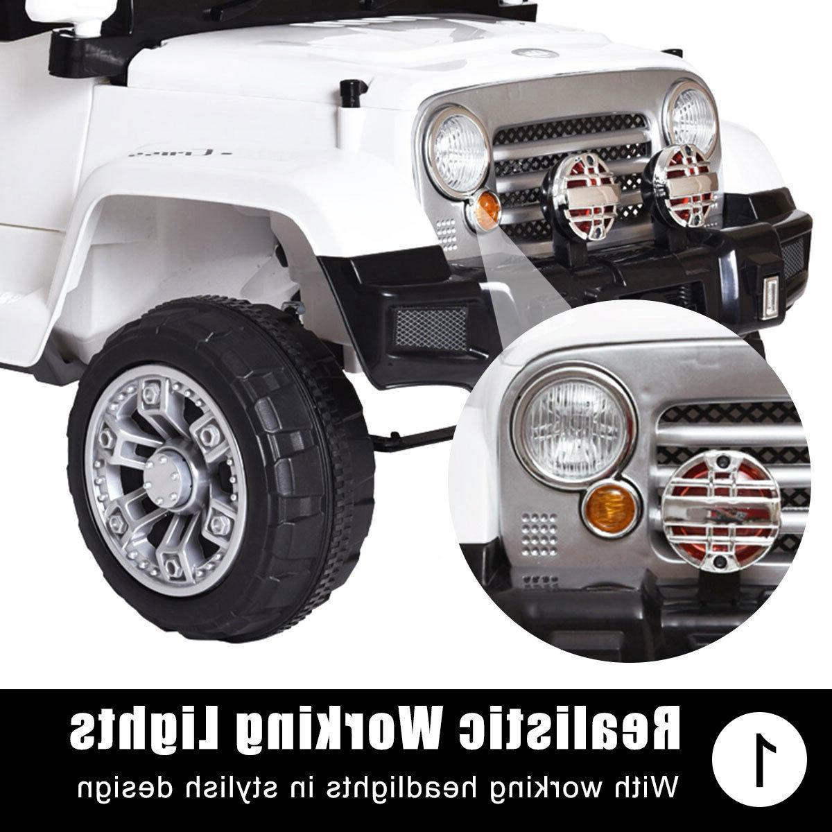 12V Jeep Car Truck Ride White