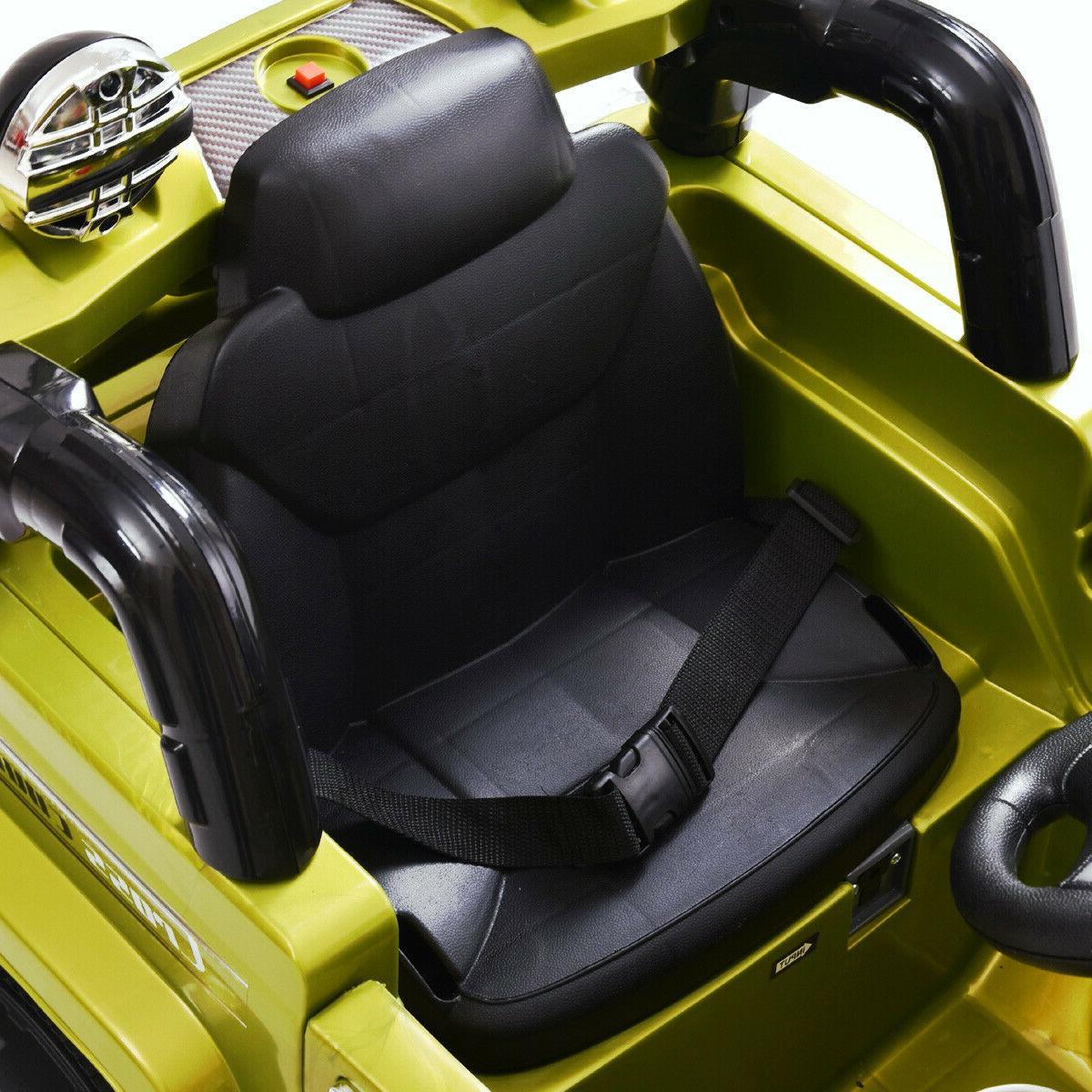 12V RC Power Car Truck Ride W/ Lights Green