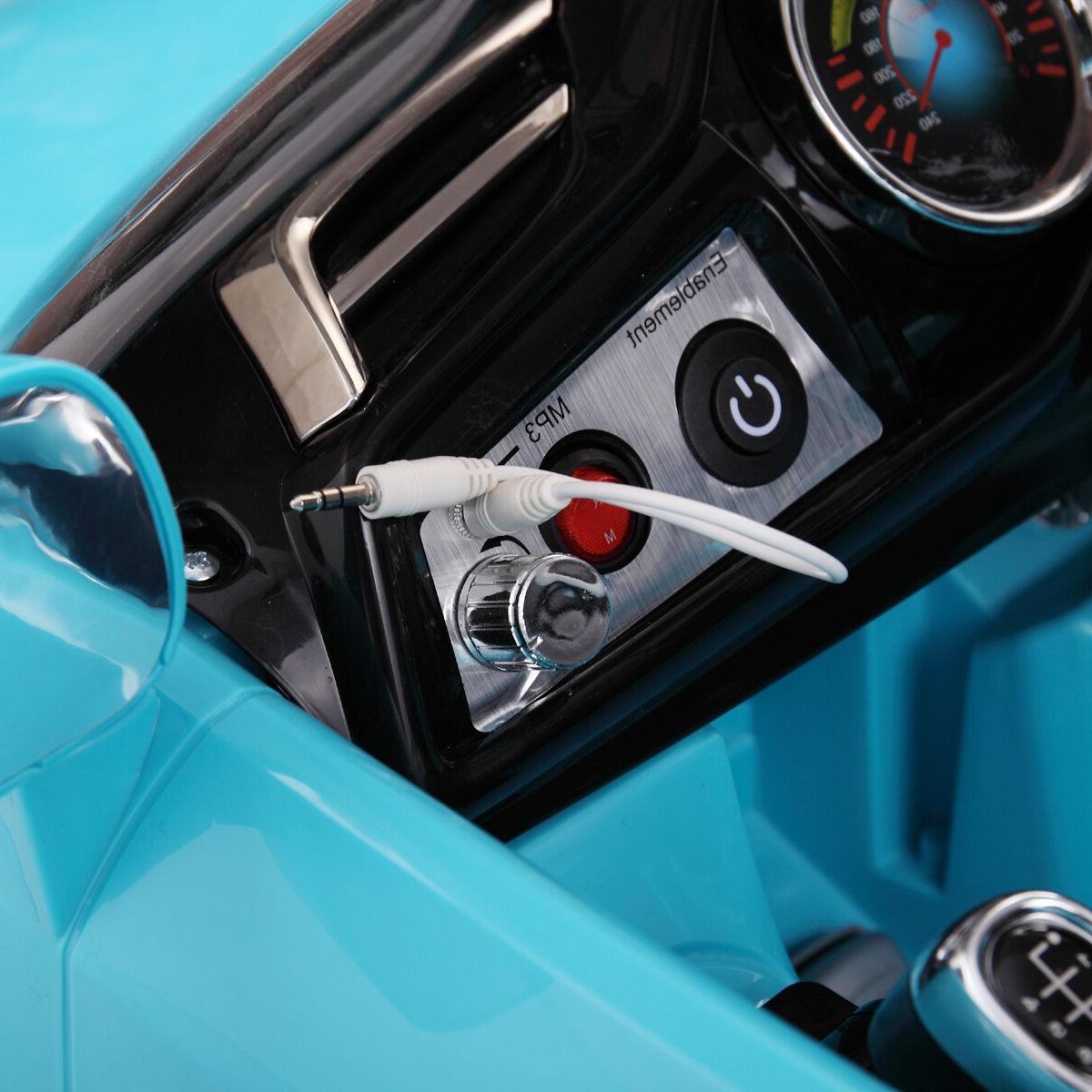 12V Ride on Kids RC Control Power W/MP3 Blue