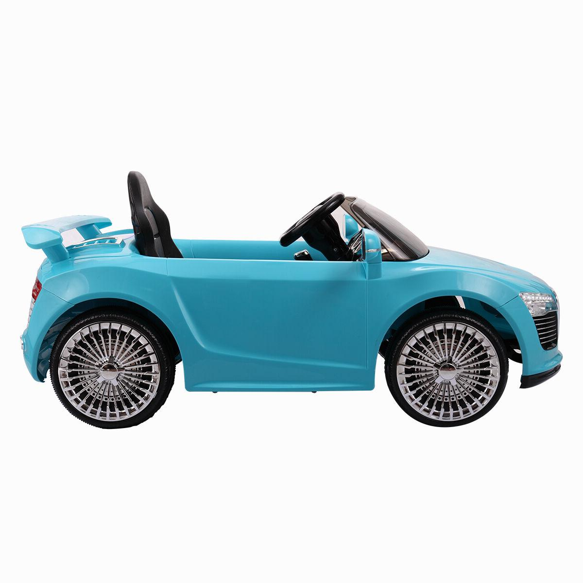 12V Ride Car Kids RC Car Control W/MP3 Blue