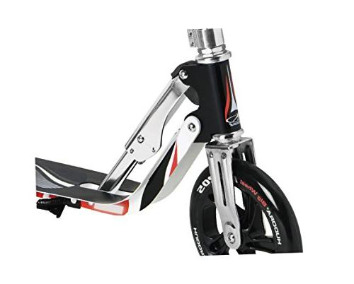 HUDORA 14724 Folding Kick Scooter- PU Wheels Adjustable Deck